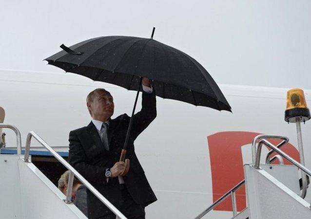 普京已抵達烏法參加金磚國家和上海合作組織峰會
