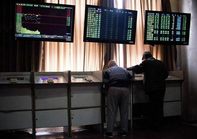 中國股市一片恐慌