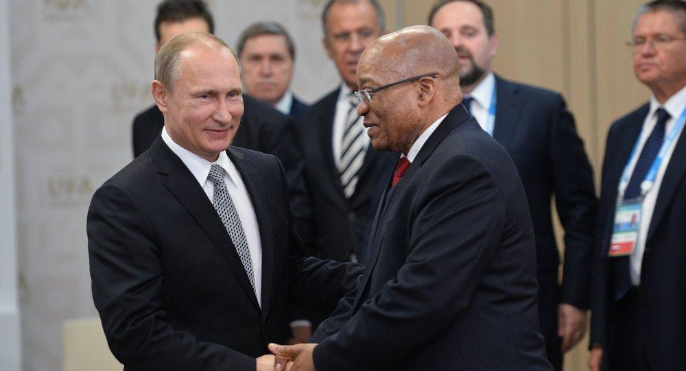 普京稱南非是俄羅斯在非洲的主要戰略夥伴