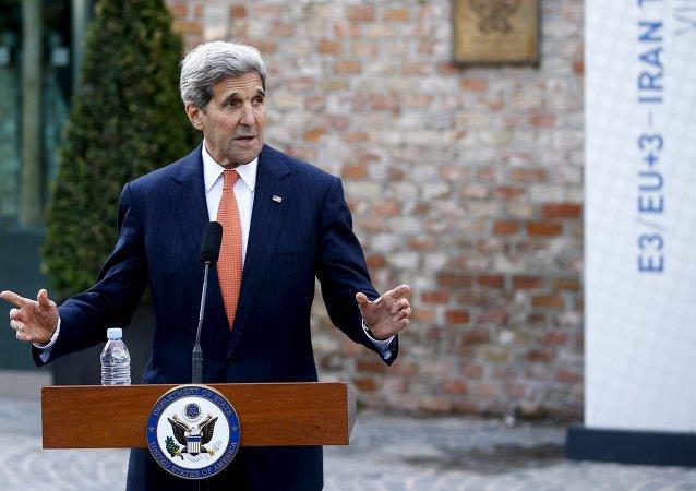 媒体:美国务卿称与伊朗外长会晤取得积极成果