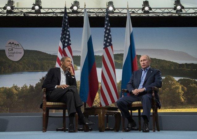 普京与奥巴马