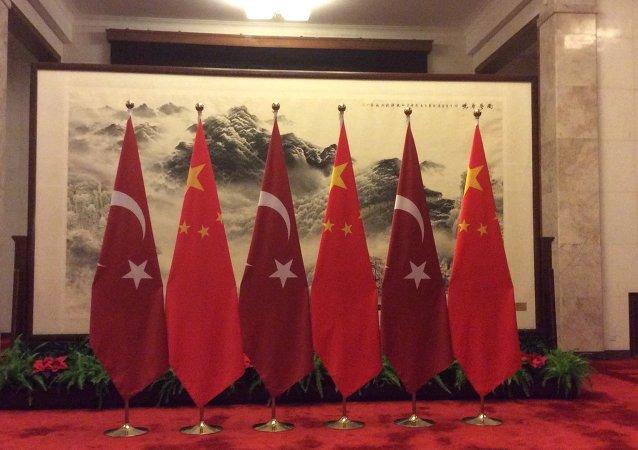 土耳其国旗与中国国旗
