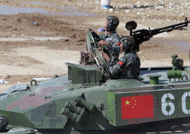 """中国在""""坦克两项""""第四天比赛胜出 俄罗斯总体保持领先"""