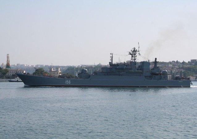 俄北方舰队的大型登陆舰