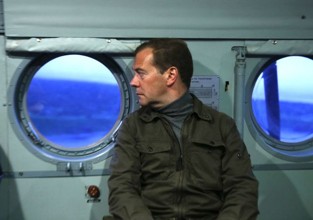 俄总理德米特里•梅德韦杰夫在远东联邦区