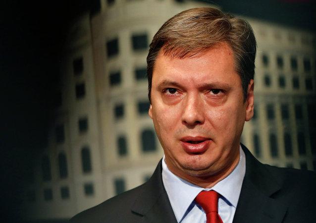塞尔维亚总理亚历山大·武契奇