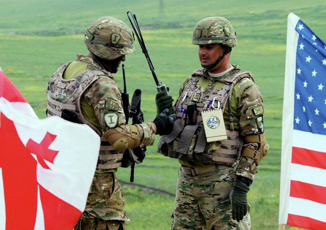 """北约多国联合演习""""高贵伙伴""""在格鲁吉亚启动"""