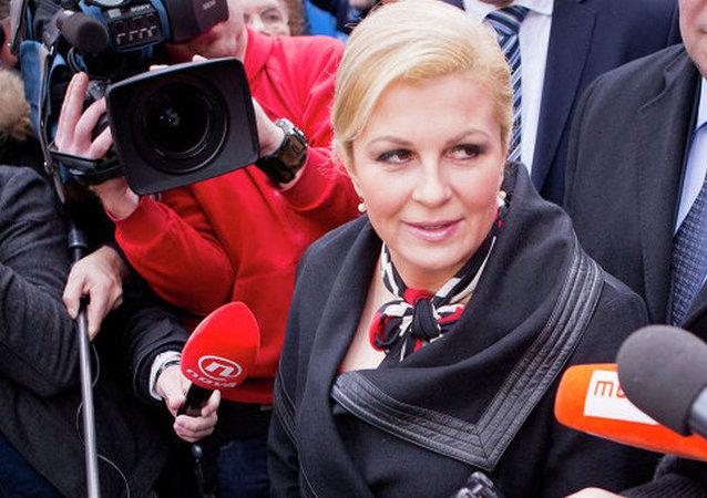 克羅地亞總統將前往索契觀看該國與俄羅斯的世界杯四分之一決賽
