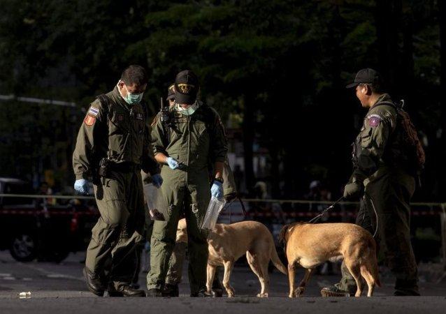因中國爆炸事件泰國警方提高警戒力度