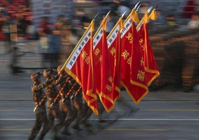 天安门广场上举行纪念中国人民抗日战争胜利70周年隆重阅兵式