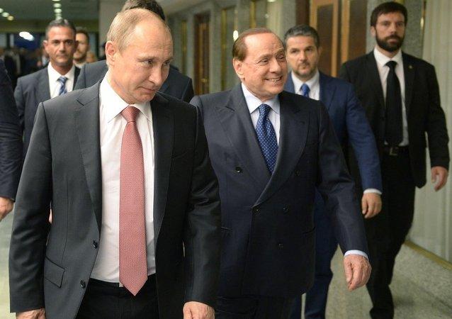 普京会见意大利前总理贝卢斯科尼