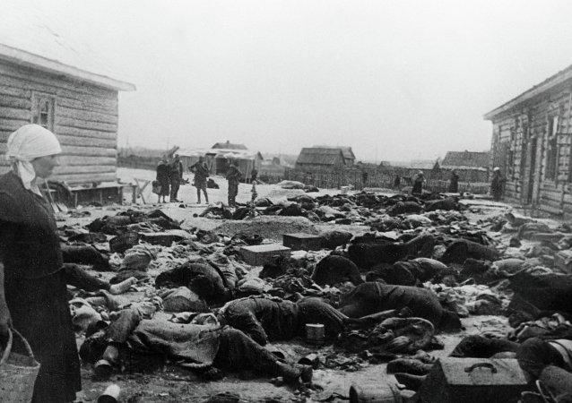 被法西斯分子槍殺的蘇聯公民