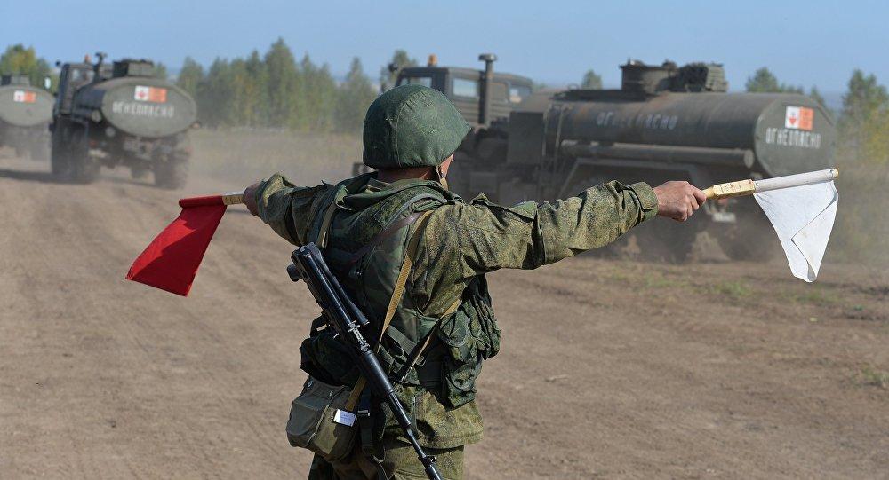 """俄""""中央-2015""""演习操练中亚地区反恐行动"""