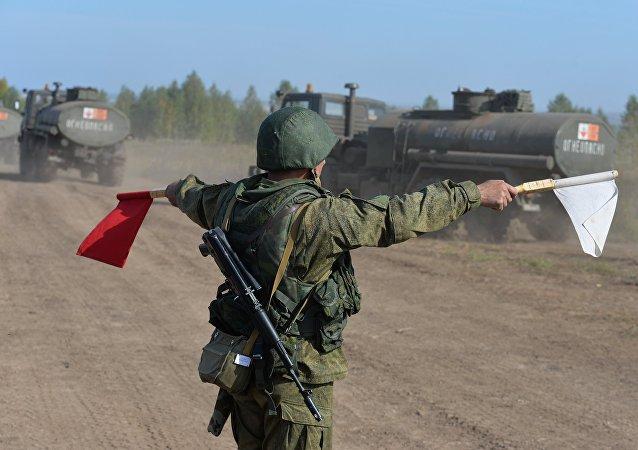 俄「中央-2015」演習操練中亞地區反恐行動