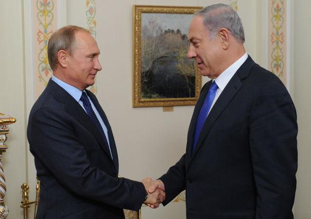 俄羅斯總統普京與以色列總理內塔尼亞胡