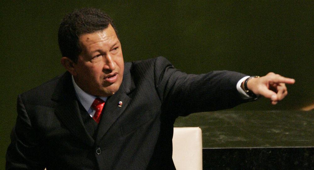 委內瑞拉總統烏戈·查韋斯在第61屆聯合國大會上發言