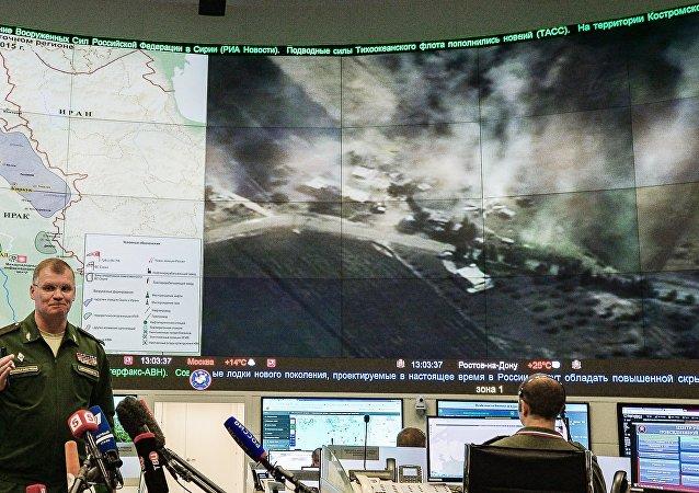 俄蘇-34戰機根據敘利亞反對派指引炸毀拉卡附近「伊斯蘭國」指揮官聚集地