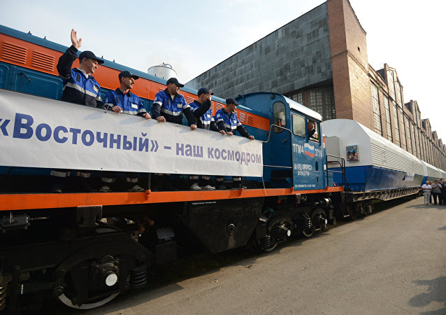俄东方航天发射场的首枚火箭已经被运至安装测试综合体