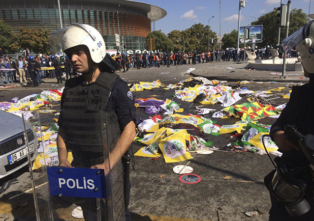 普京就安卡拉爆炸致平民死亡事件慰问土耳其总统