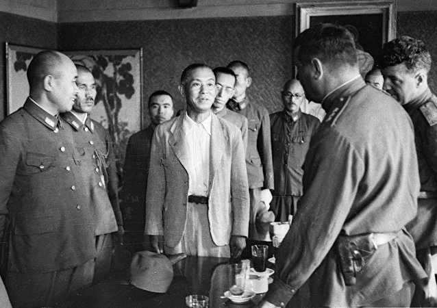 蘇聯指揮部接受部分日軍投降/資料圖片/