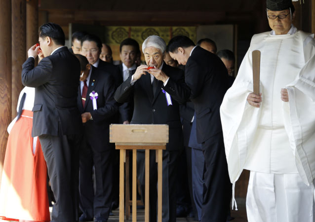 两日本大臣参拜了被认为是军国主义象征的靖国神社/资料图片/