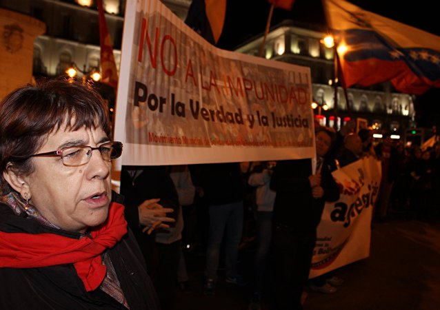 马德里举行示威游行 反对北约最大规模军演