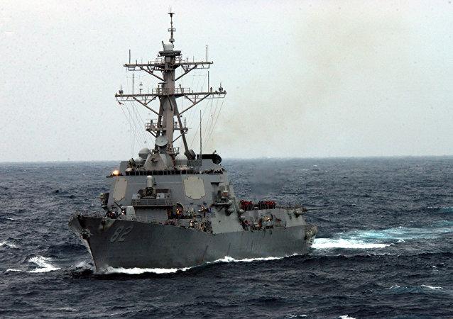 美國「拉森」號驅逐艦  資料圖片