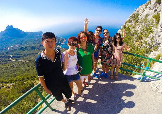 中国旅客在克里米亚