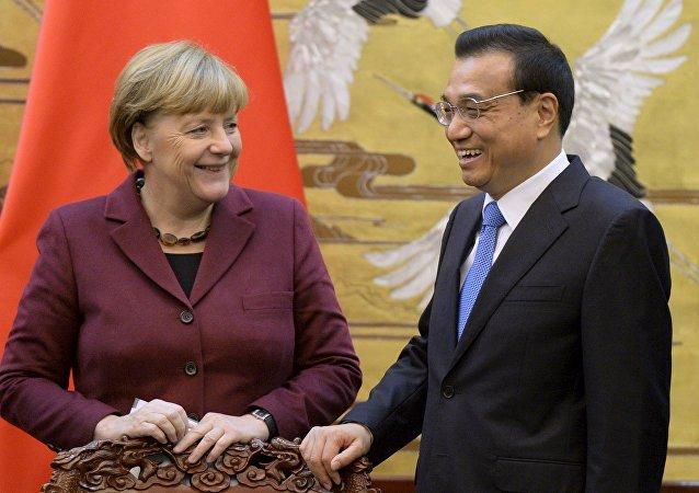 德國總理默克爾開始對中國進行正式訪問