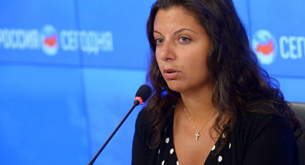 今日俄罗斯国际通讯社和RT电视台总编辑玛格丽塔·西蒙尼扬