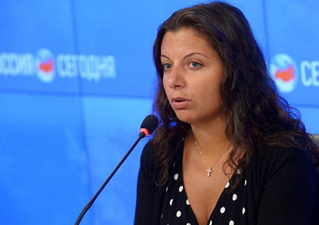 今日俄羅斯國際通訊社和RT電視台總編輯瑪格麗塔·西蒙尼揚