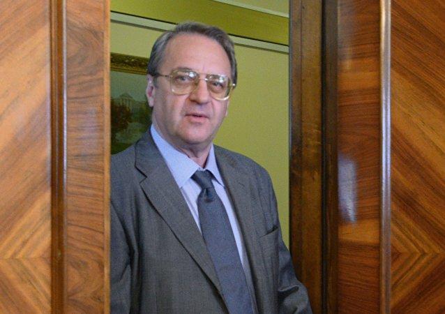 俄總統中東和非洲國家事務特使、俄副外長米哈伊爾·波格丹諾夫