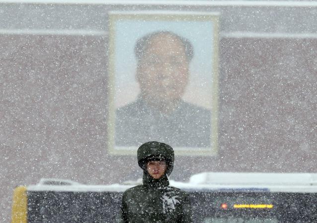 大雪中的警卫