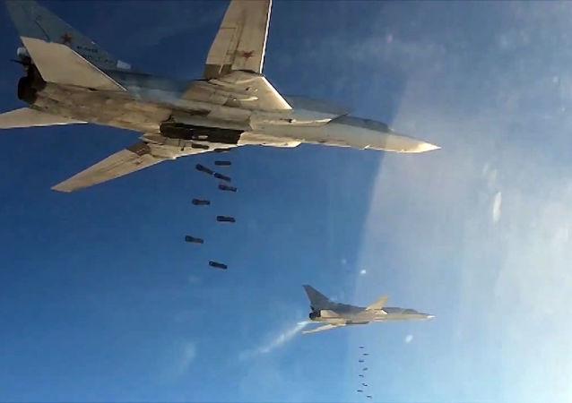 俄国防部:俄战机3天内消灭恐怖分子在叙利亚设施约900处