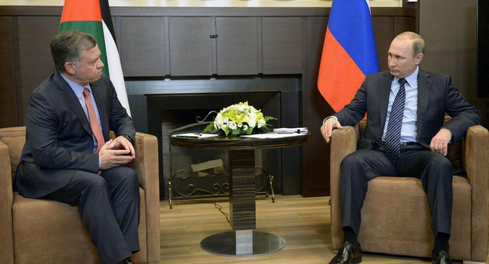 俄总统普京与约旦国王阿卜杜拉二世