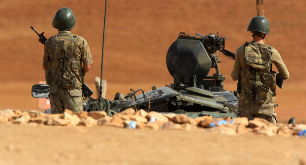潜入伊拉克境内的土耳其部队