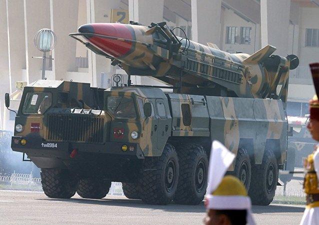 巴基斯坦軍隊首次發射能夠攜帶核彈頭的巡航導彈