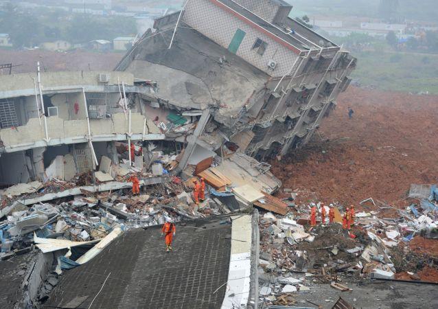 深圳山體滑坡造成的破壞