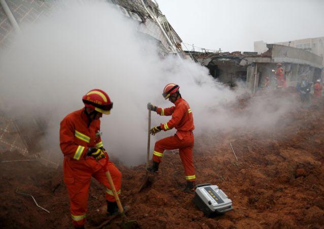 中國救援人員(資料圖片)