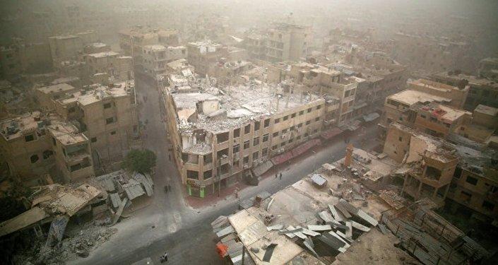 叙反对派公布大马士革附近机场爆炸照片