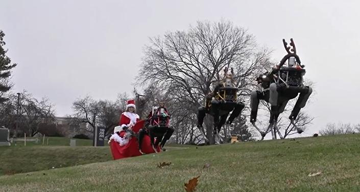 """谷歌机器人变身圣诞""""驯鹿"""""""