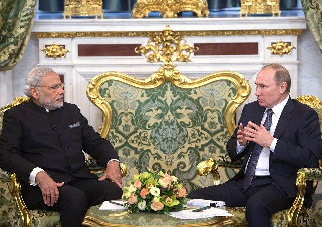 俄總統普京與印度度總理莫迪