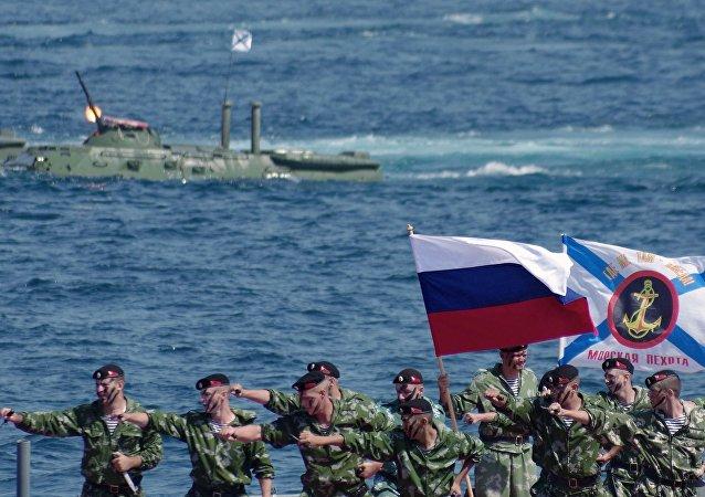 Празднование Дня ВМФ России