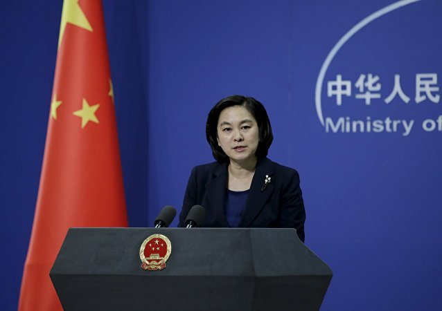 中国外交部新闻发言人华春莹