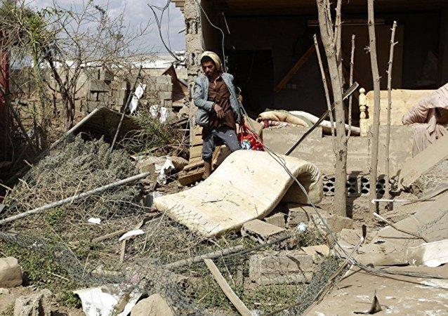 也門首都郊區遭到空襲導致至少7人死亡