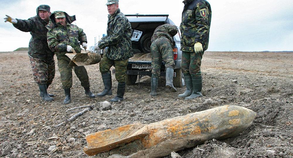 俄紧急情况部:在克里米亚发现的10枚伟大卫国战争时期航空炸弹已被清除