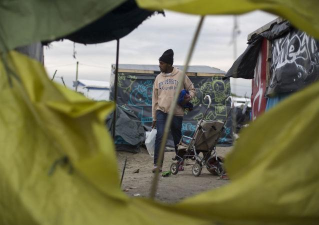 在法國加來一個難民營