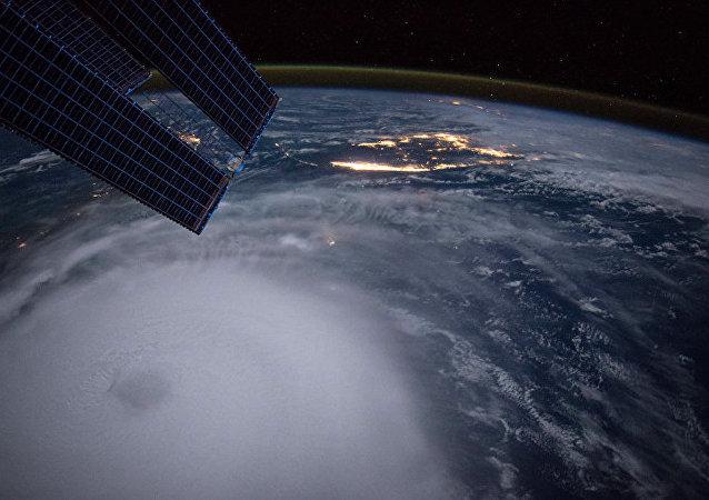 宇航員推特曬暴風雪籠罩美國東部的太空照片