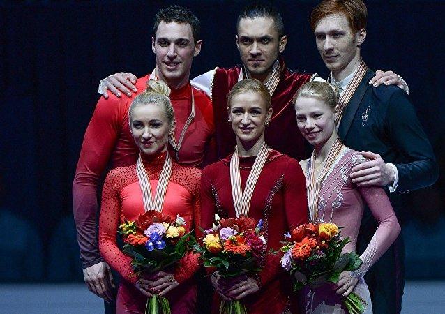 俄羅斯花滑選手在歐洲花樣錦標賽雙人滑項目中奪冠