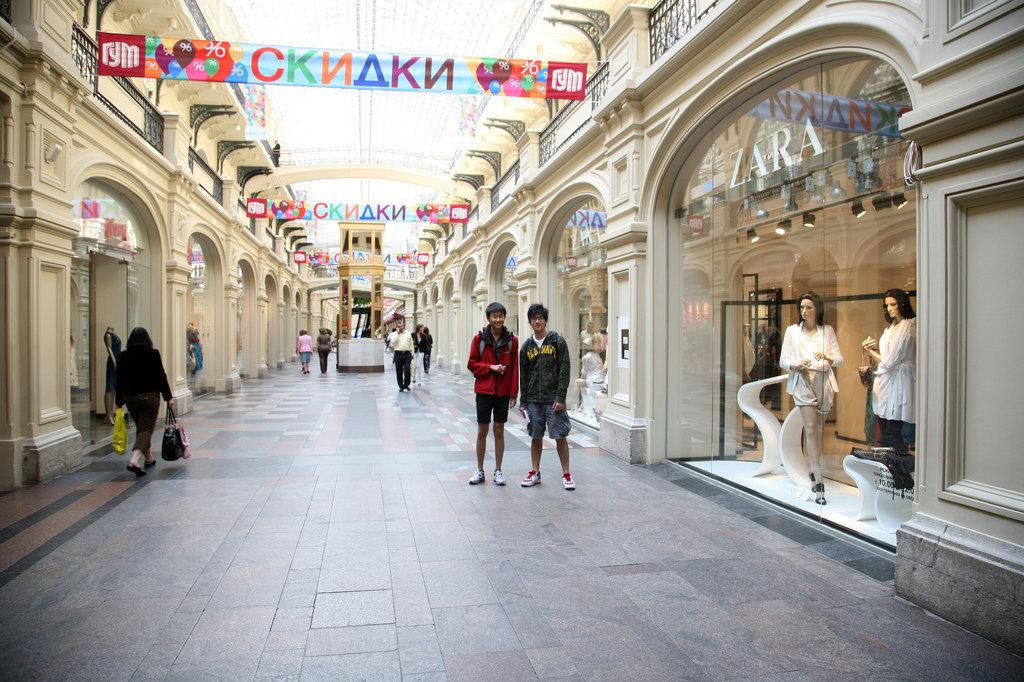 中国旅游者在俄罗斯